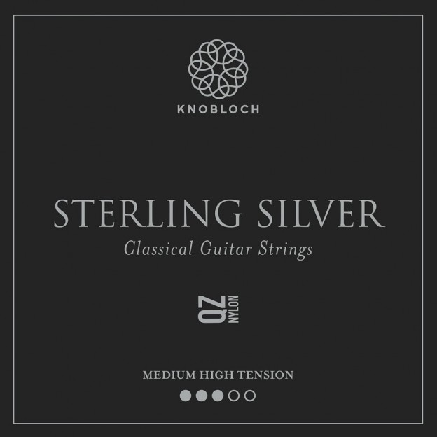 Set de primas guitarra Knobloch Sterling Silver Nylon Q.Z. 400SQZ Medium-High