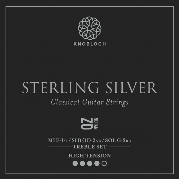 Set de primas guitarra Knobloch Sterling Silver Nylon Q.Z. 500SQZ High