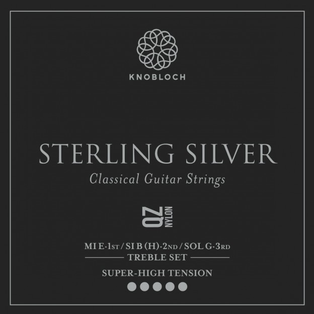 Set de primas guitarra Knobloch Sterling Silver Nylon Q.Z. 600SQZ Super High