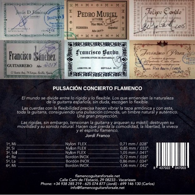 Pack profesional de cuerdas guitarra Solera Flamenca Concierto tensión media