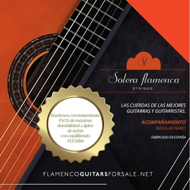 Set de cuerdas guitarra Solera Flamenca Acompañamiento tensión media-alta
