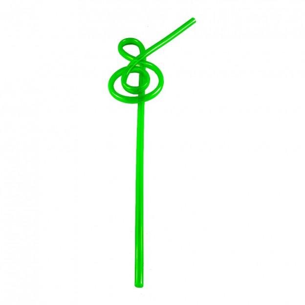 Pajita verde clave de sol