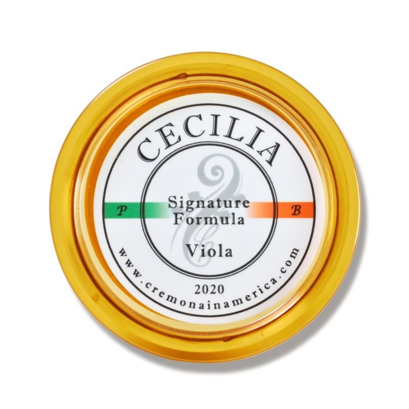 La resina de viola Cecilia Rosin Signature Formula proporciona un tacto único y un sonido articulado y definido.