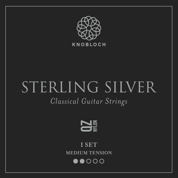 Set de cuerdas guitarra Knobloch Sterling Silver Nylon Q.Z. 300SSQ Medium