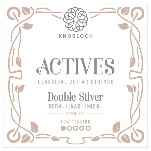 Cuerda guitarra Knobloch Actives Double Silver 205ADS A5 Low para las gamas Q.Z y S.N