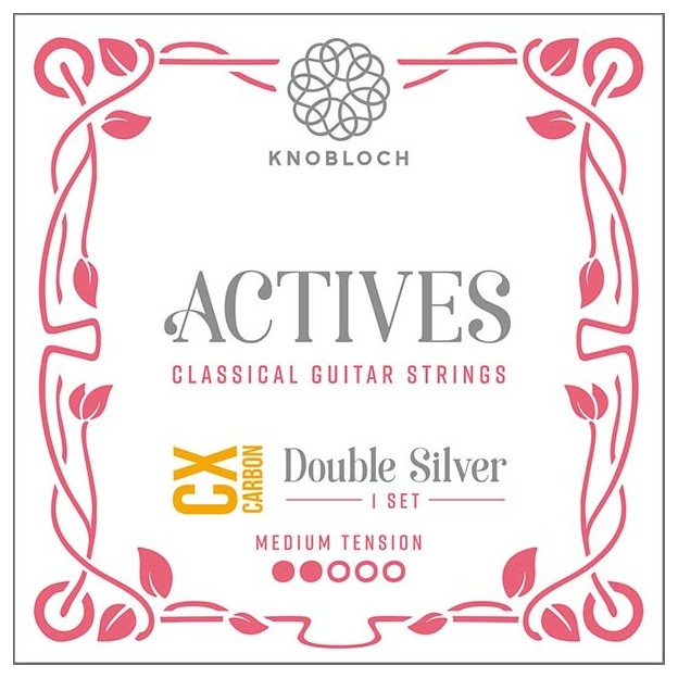 Set de cuerdas guitarra Knobloch Actives Double Silver Carbon C.X. 300ADC Medium