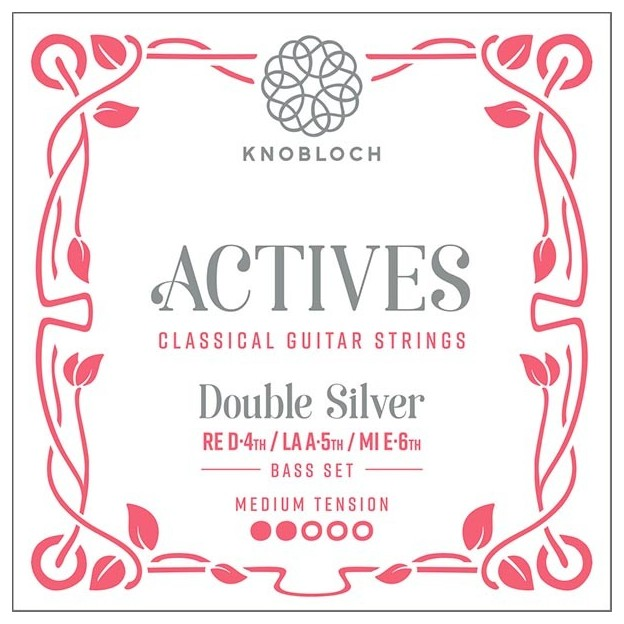 Cuerda guitarra Knobloch Actives Double Silver 304ADS D4 Medium compatible para las gamas C.X, Q.Z y S.N