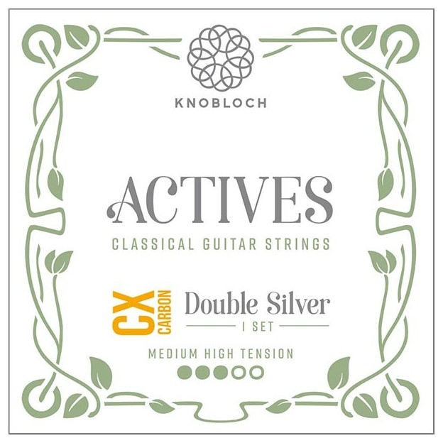 Cuerda guitarra Knobloch Actives Double Silver Carbon C.X. 400ADC Set Medium-High