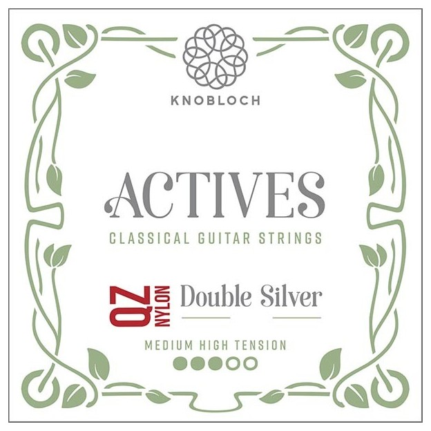 Cuerda guitarra Knobloch Actives Double Silver Nylon Q.Z. 400ADQ Set medium High