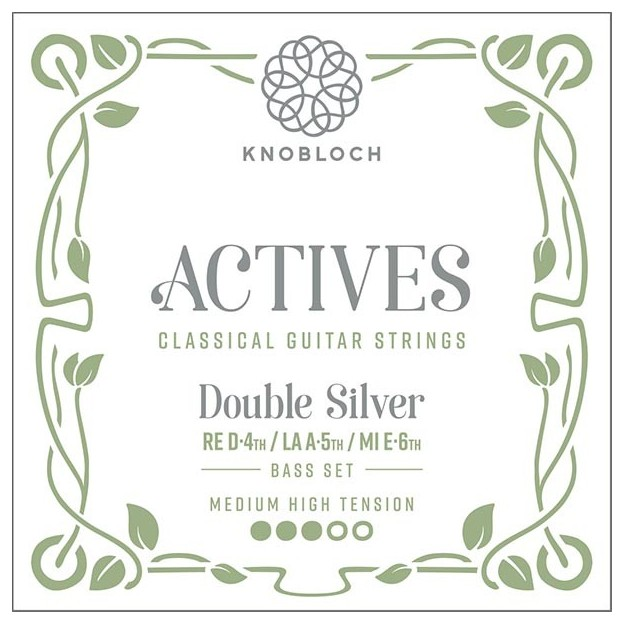 Cuerda guitarra Knobloch Actives Double Silver Carbon C.X. 400ADS Medium-High juego de bajos para las gamas C.X, Q.Z y S.N