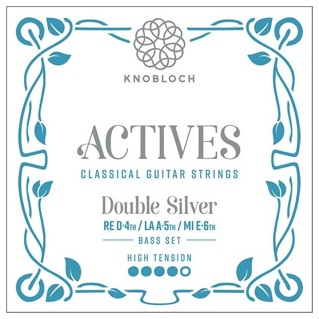 Cuerda guitarra Knobloch Actives Double Silver 506ADS E6 High para las gamas C.X, Q.Z y S.N