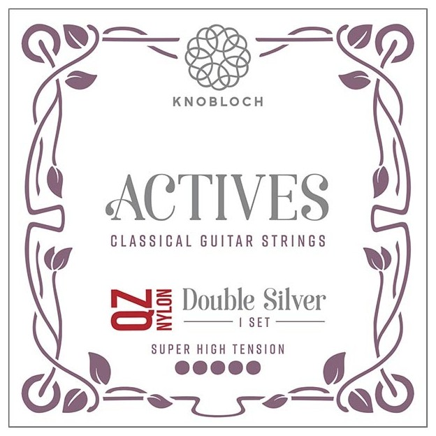 Cuerda guitarra Knobloch Actives Double Silver Nylon Q.Z. 600ADQ Set Super High
