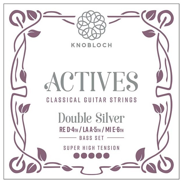 Cuerda guitarra Knobloch Actives Double Silver 604ADS D4 suelta Super High para las gamas C.X, Q.Z y S.N