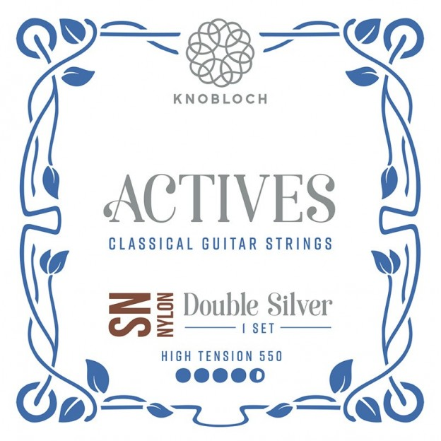 Set de Cuerdas Guitarra Knobloch Actives Double Silver Carbon S.N. 550ADN High 550