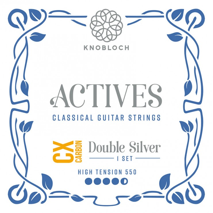 Set de Cuerdas Guitarra Knobloch Actives Double Silver Carbon C.X. 550ADC High 550