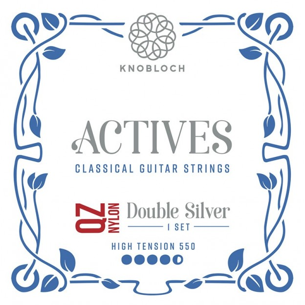 Cuerda guitarra Knobloch Actives Double Silver Nylon Q.Z. 551AQZ E1 High 550