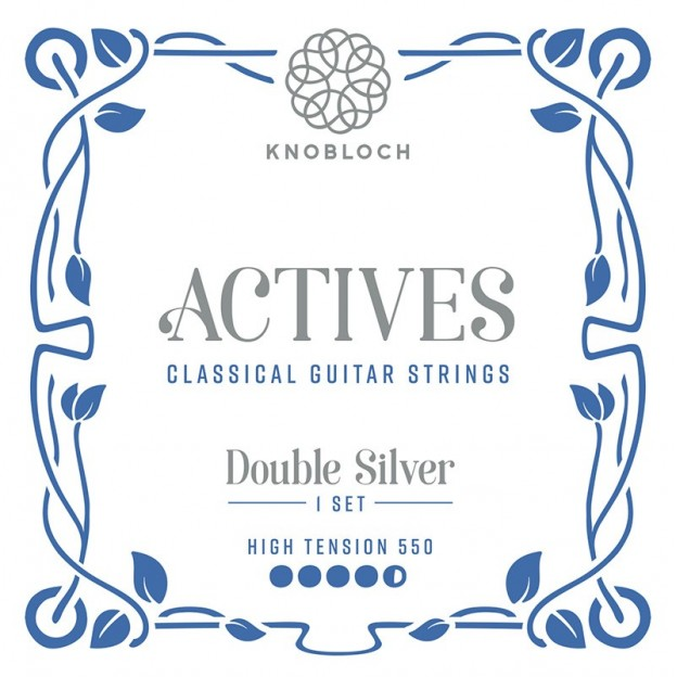 Cuerda guitarra Knobloch Actives Double Silver 556ADS E6 High para las gamas C.X, Q.Z y S.N 550