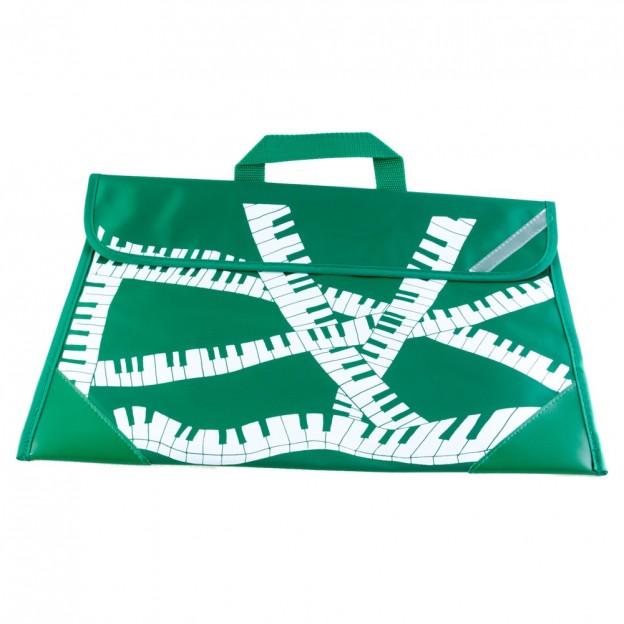 Cartera verde teclado piano