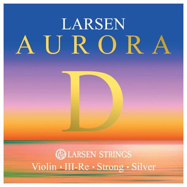 Cuerda violín Larsen Aurora 3ª Re plata Medium