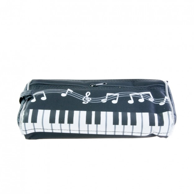 Plumier teclado de piano y notas musicales