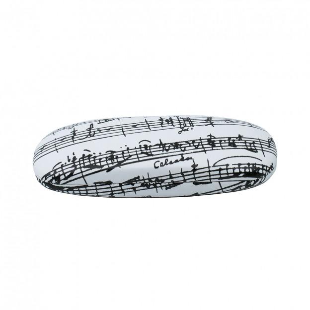 GL01 Estuche para gafas blanco partitura