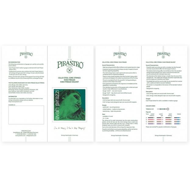 Díptico Pirastro Evah Pirazzi Cello