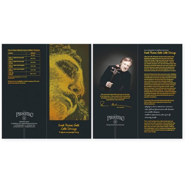 Díptico Pirastro Evah Pirazzi Gold Cello