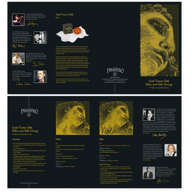 Tríptico Pirastro Evah Pirazzi Gold violín/viola