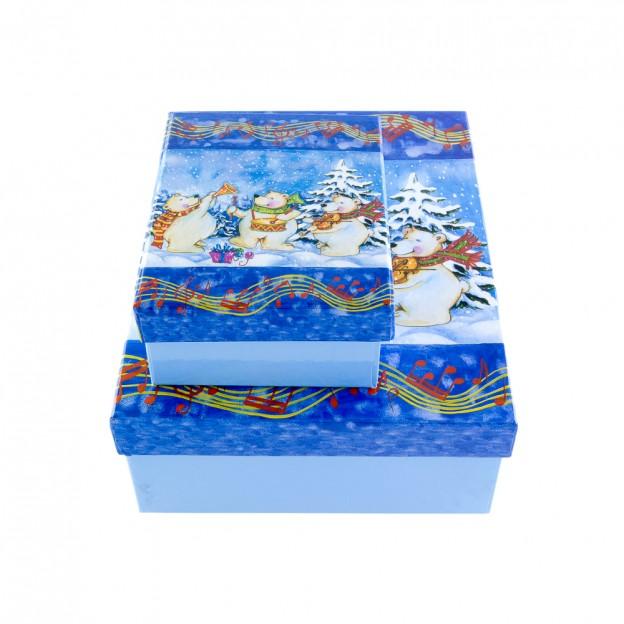 Dos cajas osos polares Navidad