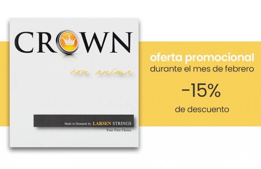 Oferta promocional: cuerdas Larsen Crown para cello